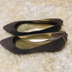 NWOT! BCBGENERATION Studded Suede Point Toe Flats